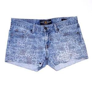 Lucky Brand Riley Short Print Jean Shorts